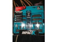Makita IMPACT X Bit Set 35pc New In Package A-98326 fits all drills 2019 Pocket Cup box