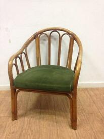 Vintage bamboo occasional tub chair