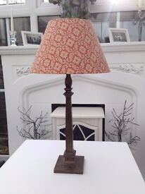 Laura Ashley Paisley shade with brass base