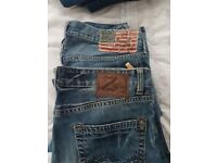 2 x pairs of Mens Jeans 34x32
