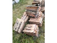 350 reclaimed clay pantiles - triple Roman
