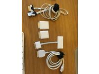 Assorted iPhone/iPad cables and camera connection kit