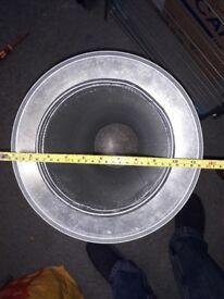 "8"" silencer and 2m of 8"" flex ducting - ventilation / hydroponics"