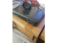 CCTV DVR BOX WITH POWER LEAD AND ONE CAMERA