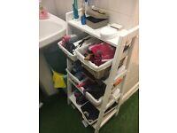 Bathroom Shelf 92cm H x 42cm W x 35cm D (including 5 maize boxes)