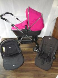Silver Cross Wayfarer Travel System Raspberry Pink