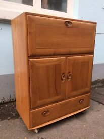 1960s Ercol Drinks Cabinet/Bureau/Media Unit. Vintage/Retro/Mid Century.
