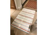 White Company stripe rug