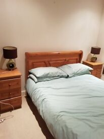 Double bed and nightstands in very good condition