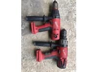 Milwaukee drills,for parts/or maybe fixable