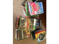 60+ Assorted DVDs and CDs, PS2 and Xbox games clearing