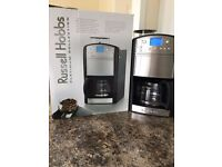 RUSSELL HOBBS PLATINUM GRIND AND BREW 14889 FILTER COFFEE MACHINE WITH TIMER