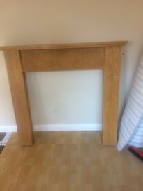 Beech fire surround and solid marble hearth