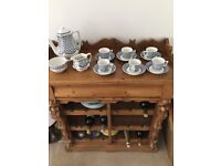 Wedgewood blue clover coffee set