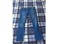 Men's River Island Stretch Skinny Denim Blue Jeans W32 L32