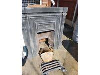 Iron fireplace