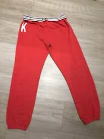 Victoria secret pink ankle joggers red s fits 8-10