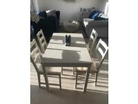 Kitchen table! Grey painted wood