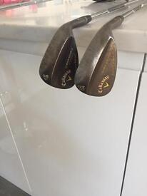 Callaway Mack daddy wedges 52• and 58•