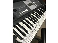Keyboard (piano) with stand and chair