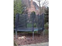 10ft plum trampoline with net, very good condition, free but need to be dismantled and picked up