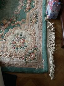 Chinese Rug Green pattern very large size