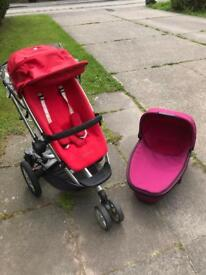 Quinny buzz pram, travel cot and buggy board