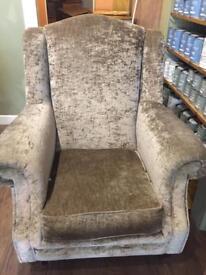 Crushed Velvet Highback armchair