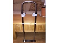 NRS SWEDISH BATH RAIL- CHROME strong and stable grab handle for getting out of bath reducing falls