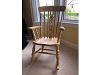 Rocking Chair - solid wood (beech).