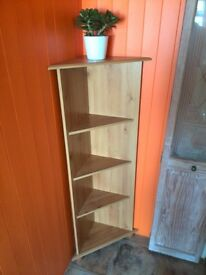 Lovely Wooden Corner Shelving Unit