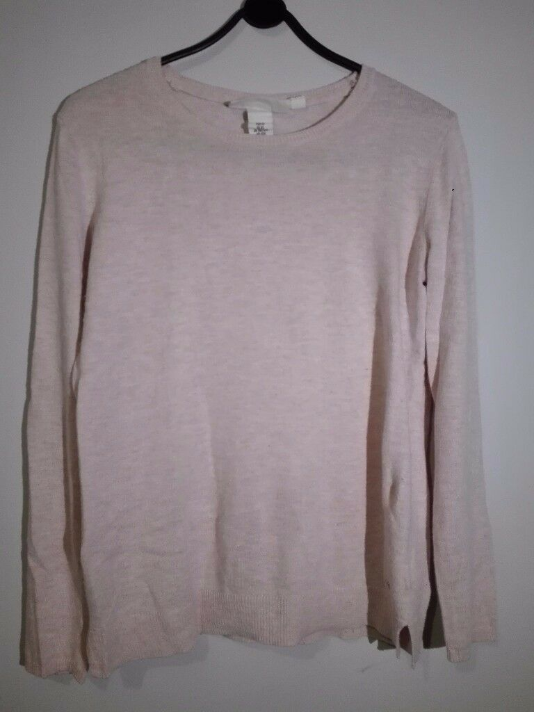 H&M light pink jumper