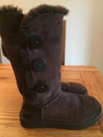 Bailey button genuine Ugg boots brown
