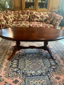 Antique wooden coffee table