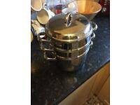Three stack cooking pots