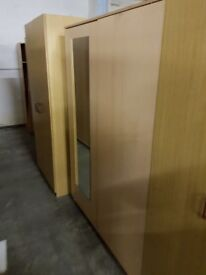 Large Double Wardrobe with Mirror