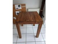 Brand New Square 70cm Dining Table Solid Sheesham Wood