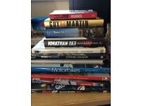 Selection of motorcycle and F1 books motorbike Guy Martin etc