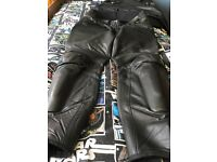Dainese black leather trousers fits 34-36 inch waist