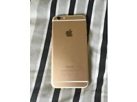 Iphone 6 16GB rose gold cracked screen needs repair still works unlockable
