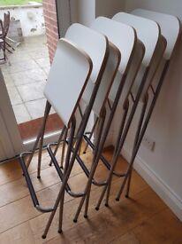 Ikea BILLSTA table and four breakfast stools