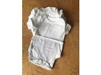 Bundle of Mothercare short sleeved baby vests (up to 3 months)