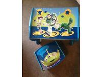 Toy story table and stool