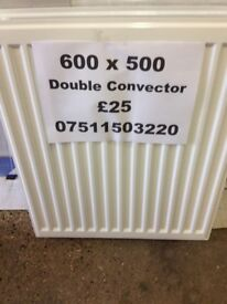 CENTRAL HEATING RADIATOR STELRAD Double Convector 600mm high x 500 mm long.
