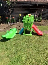 Little tykes slide and seesaw