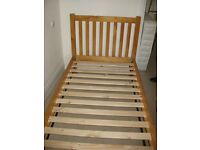 John Lewis single pine bed frame and mattress in excellent condition