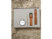 INSTRMNT 01-A Watch - Gunmetal steel casing and high quality tan leather strap