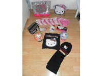 Big Hello Kitty Bundle. 4 bags, 2 purses, make up bag puzzleballs, earring holder banner etc
