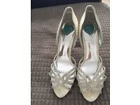 Belle London ivory diamanté Bridal shoes