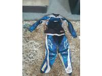 Kids motorcross trousers and top